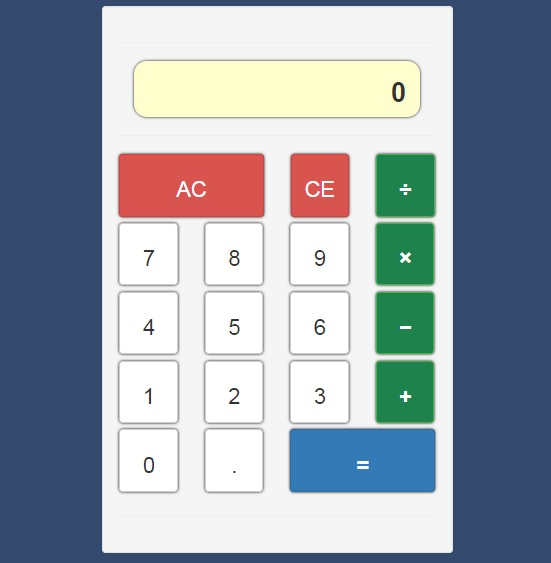 Project: javascript calculator - Mark Allen
