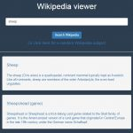 Wikipedia viewer